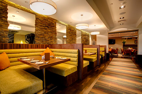 restaurant interior seating booths