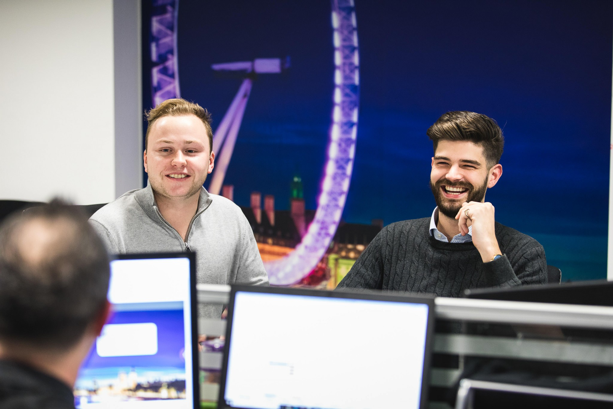 london office reportage young males